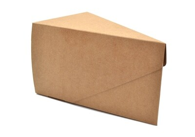 Cake Box Single Slice - Eco Kraft (ea)