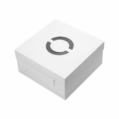 Cake Box Corrugated Base (15cm) HIGH White 12
