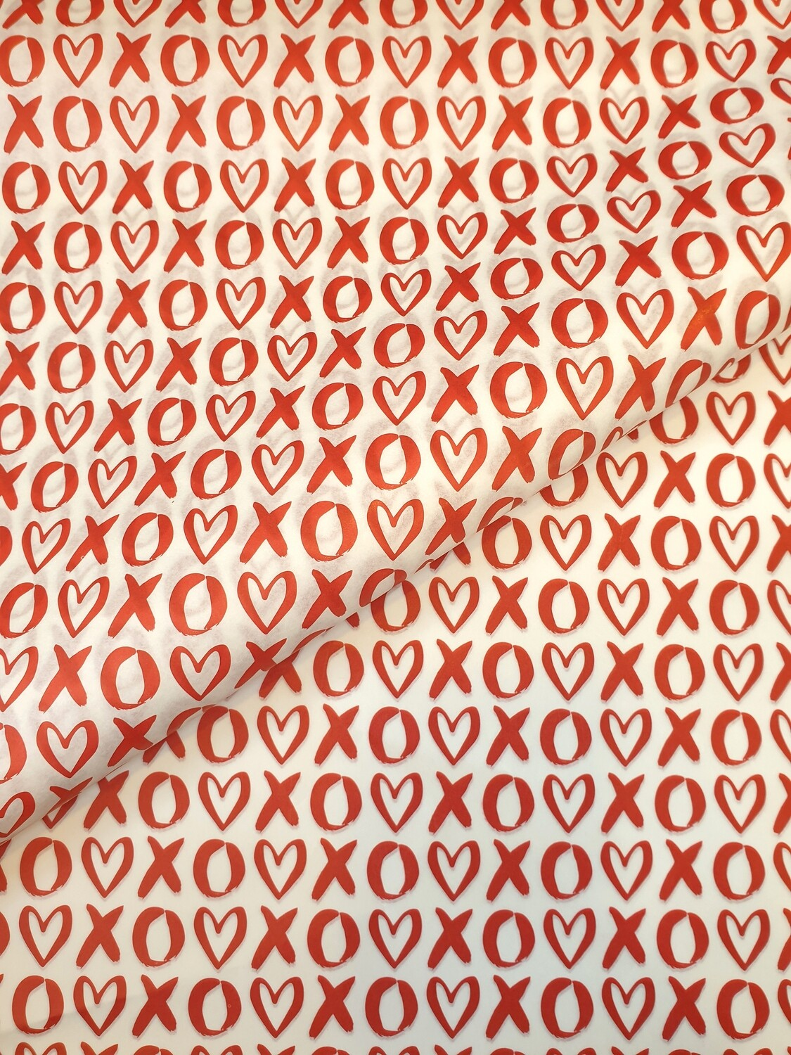 Tissue Paper - XOXO - Red on White (Qty 25)