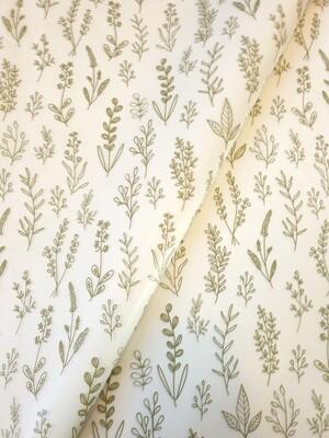 Tissue Paper - Botanical - Green on White (Qty 25)