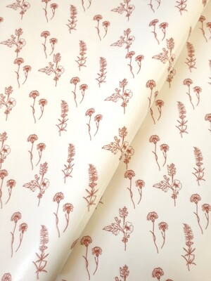 Tissue Paper - Fynbos - Rust on White (Qty 25)