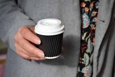 Coffee Cups Ripple Espresso 100ml - Black (Qty 50)