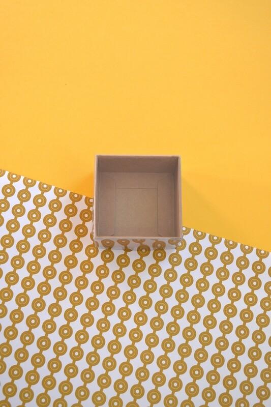 Box Kraft Base with PVC Lid 70x70x40 mm (ea)