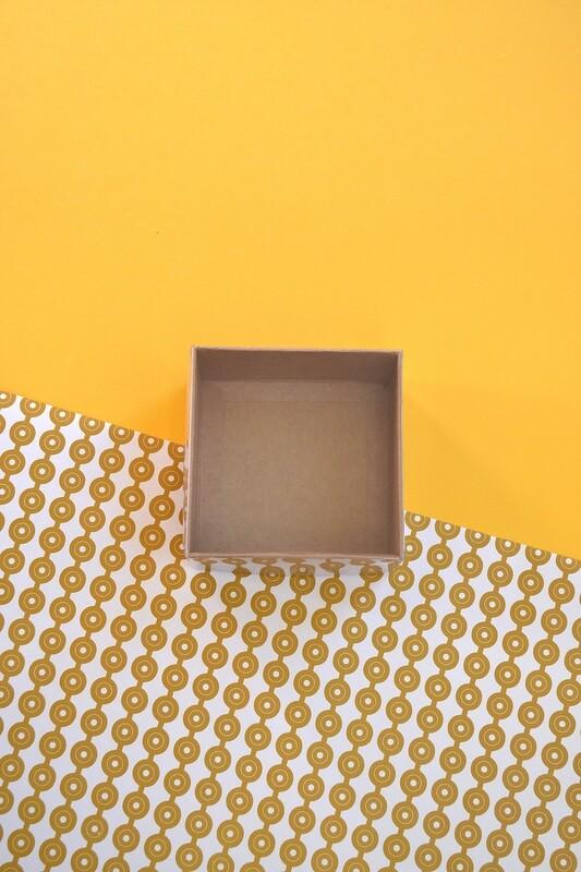 Box Kraft Base with PVC Lid 90x90x50 mm (ea)