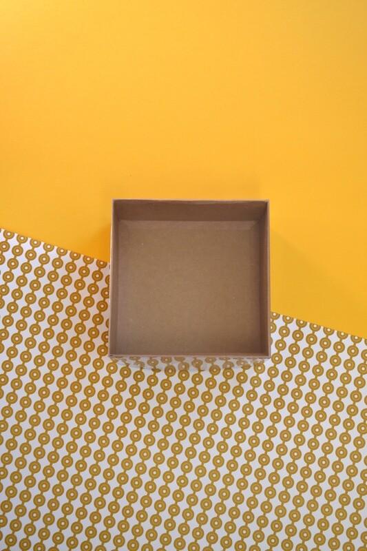 Gift Box Kraft Base PVC Lid 150x150x75 mm (ea)