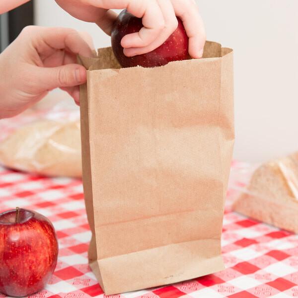 Paper Bags SO 3 Brown - 125x70x215mm (Qty 100)