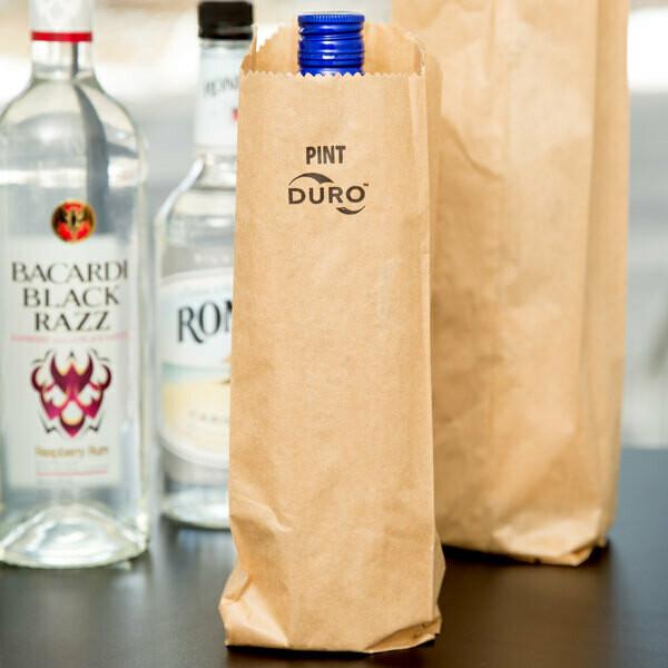 Paper Bag Kraft Flask - 100x50x235mm (Qty 50)