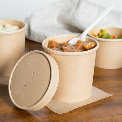 Tub Paper Kraft 500ml (each) - Lid not included