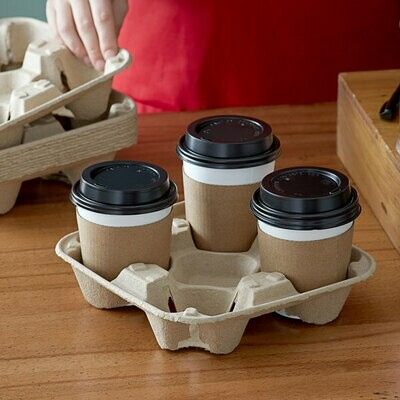 Coffee Cup Carrier 4 Div (Qty 60)