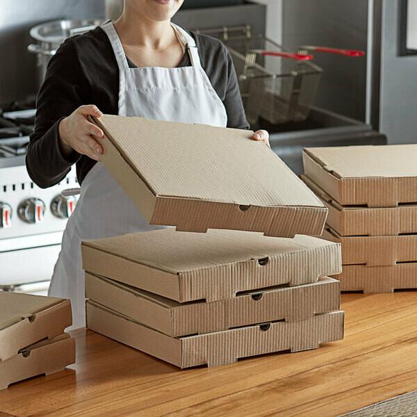 Box Corrugated Pizza Medium 27cm Brown (ea)