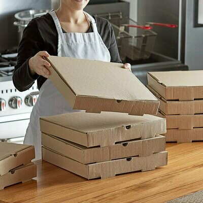 Box Corrugated Pizza Medium 27cm Brown (Qty 50)