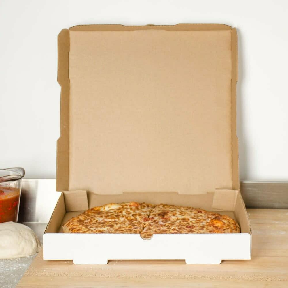 Box Corrugated Pizza Medium 27cm White (ea)