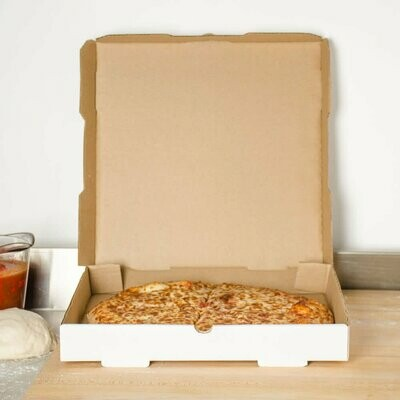 Box Corrugated Pizza Medium 27cm White (Qty 50)