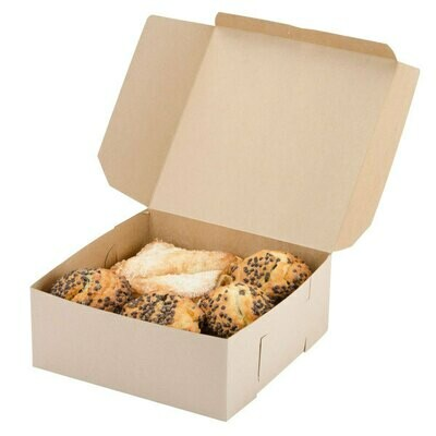 Cake Box Eco Brown 9 x 9 x 4