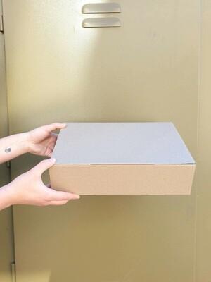 Parcel Box Corrugated Kraft - 330 x 240 x 85 mm