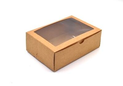 Cake Box Window 7 x 5 x 2.5 Brown (ea)