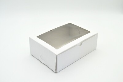 Cake Box Window 7 x 5 x 2.5 White (each)