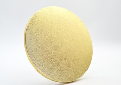 Cake Board Embossed Gold Round 11