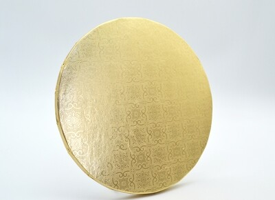 Cake Board Embossed Gold Round 8