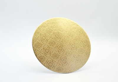 Cake Board Embossed Gold Round 6