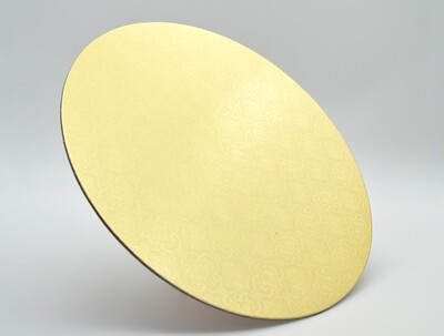 Cake Board Embossed Gold Round 10