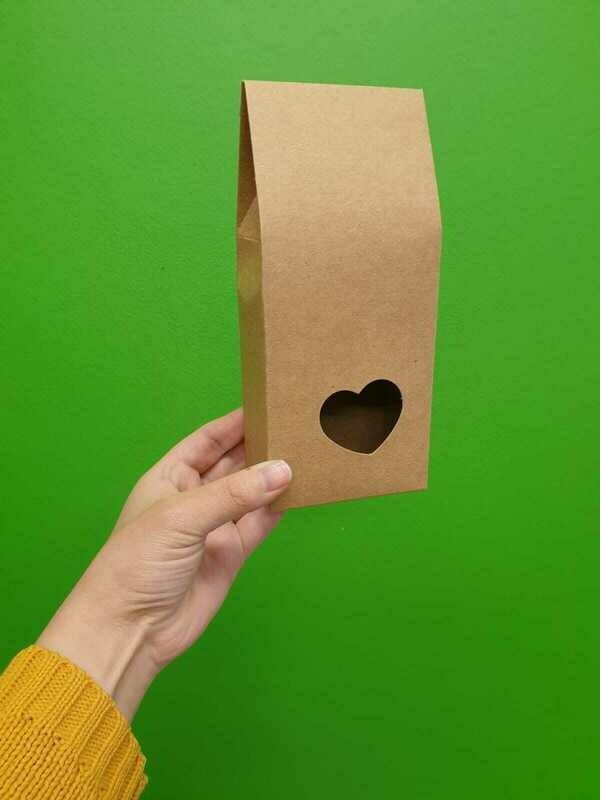 Box Heart (8.5 x 5.5 x 19 cm) Kraft (ea)