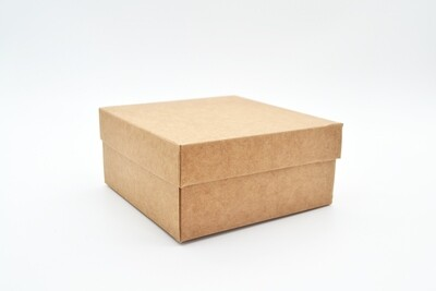 Gift Box Kraft Base Kraft Lid 125x125x60 mm (ea)