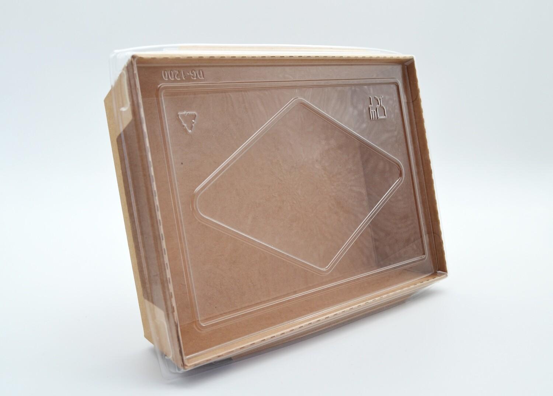 Clip lock Kraft Meal Box & PET Lid Combo (Qty 50) 900ml