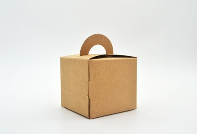 Novelty Box 65x65x60mm Kraft (ea)