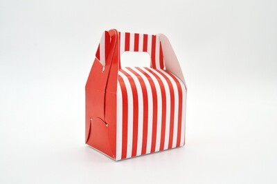 Mini Party Box 70x50x50mm Red Stripe (ea)