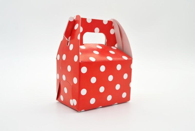 Mini Party Box 70x50x50mm Red Dot (ea)