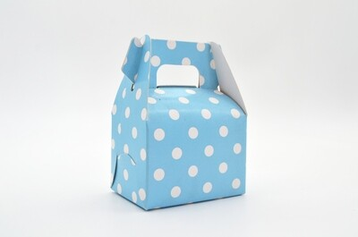 Mini Party Box 70x50x50mm Baby Blue Dot (ea)