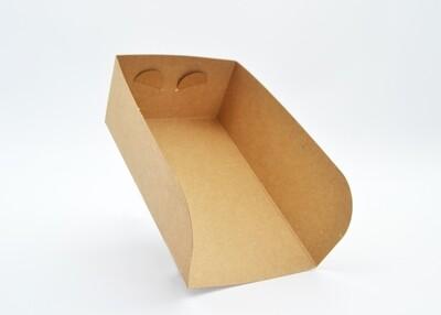Cake Box Scoop Medium Kraft 17x10x6cm (ea)