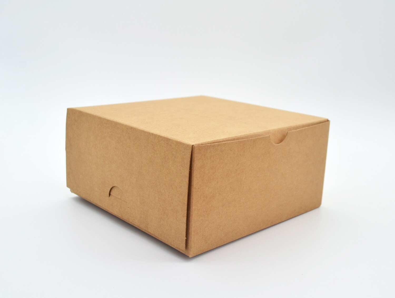 Cake Box Eco Brown 6 x 6 x 3 (ea)