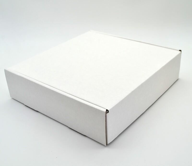 Box Corrugated Patti 255mm x 245mm x 65mm White (ea)