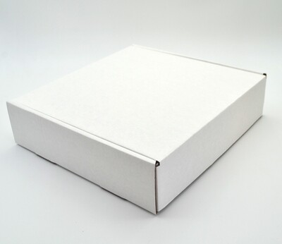 Box Corrugated Patti 255mm x 245mm x 65mm White (ea)