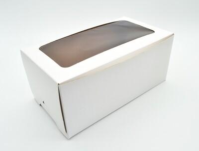 Cake Box Window 9 x 5 x 4 White (Pack of 100)