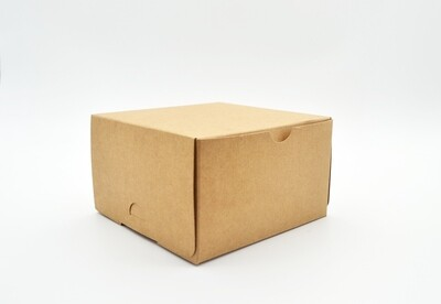 Cake Box Eco Brown 5 x 5 x 3 (ea)