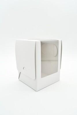 CupCake Single Window 100x100x135 White - Large (ea)