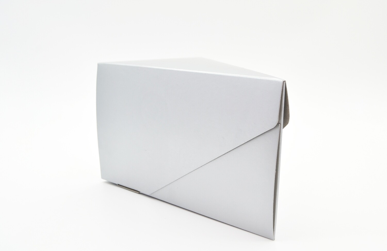 Cake Box Single Slice - Silver (ea)