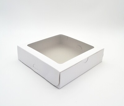 Cake Box Window 9 x 9 x 2 White (ea) *Tart