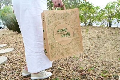 Paper Earth Carrier Bag 320x155x392mm (Qty 25)