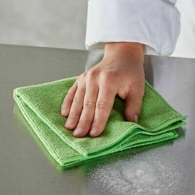 Cloth Microfiber Woven Green (ea)