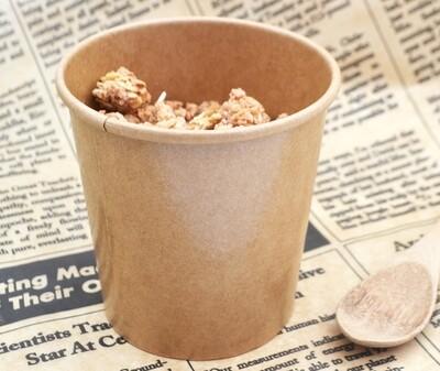 Tub Ice Cream + Lid Combo Kraft 500ml (Qty 50)