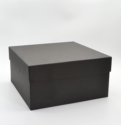 Corrugated Square Big Black Box + Lid 27.5x27.5x14 cm (ea)