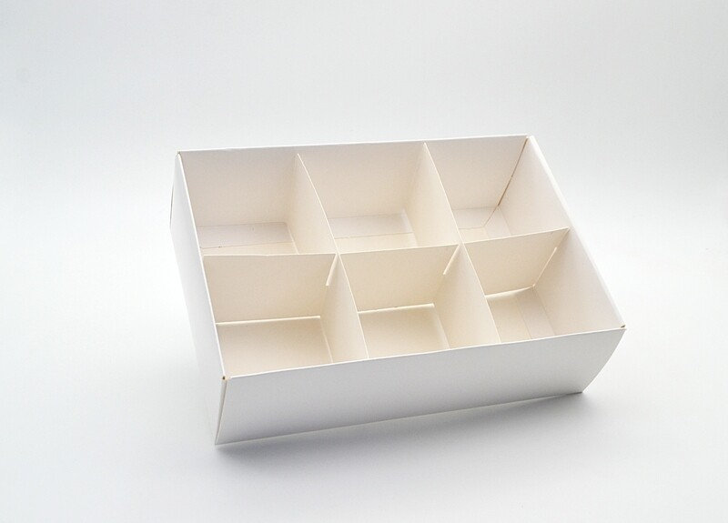 Spice Box White Base & Lid + Window + 6div (ea)