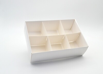 Spice Box White Base & Lid + Window + 6div (ea)