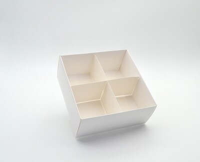 Spice Box White Base & Lid + Window + 4div (ea)