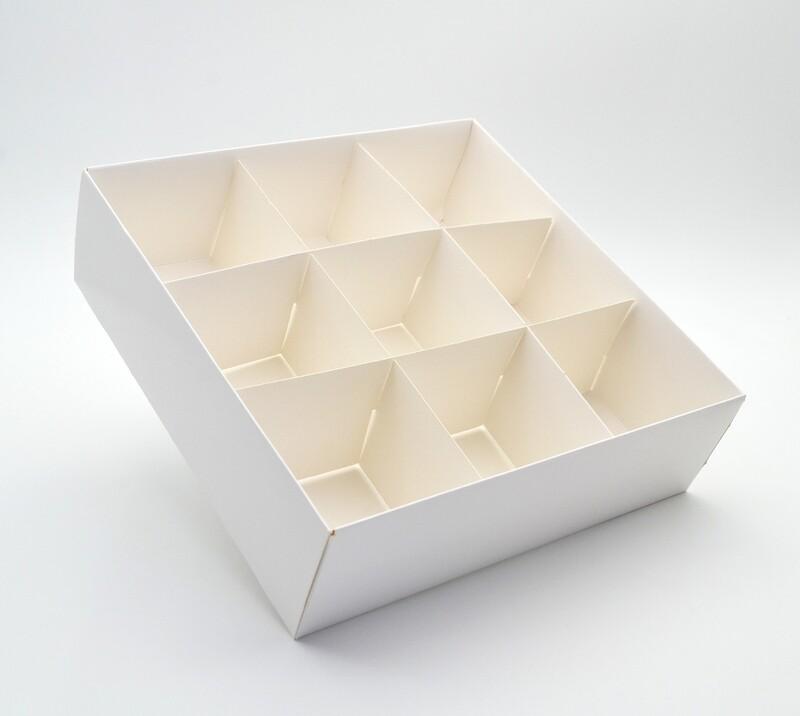 Spice Box White Base & Lid + 9div (ea)