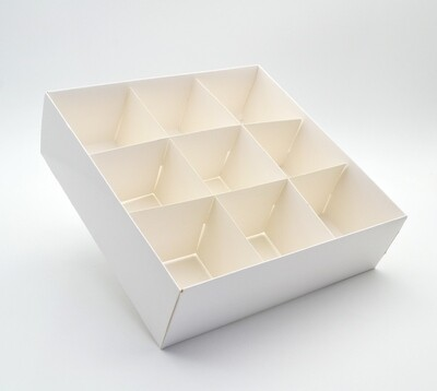 Spice Box White Base & Lid + 9div (ea)